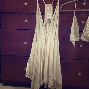 Free people dress and bra , ivory , size L